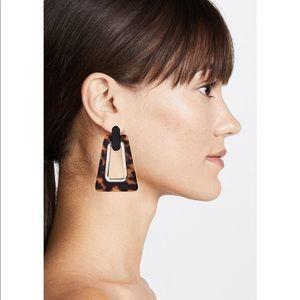 Rebecca Minkoff Trapezoid Resin Earrings